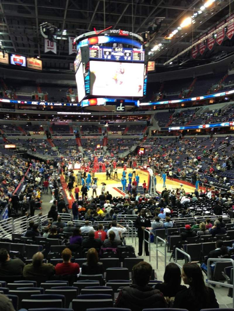 Seating view for Verizon Center Section 104 Row R Seat 20
