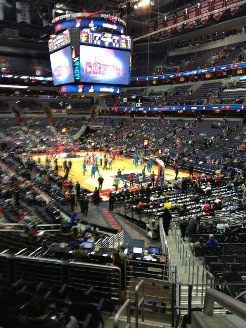 Seating view for Verizon Center Section 103 Row R Seat 20