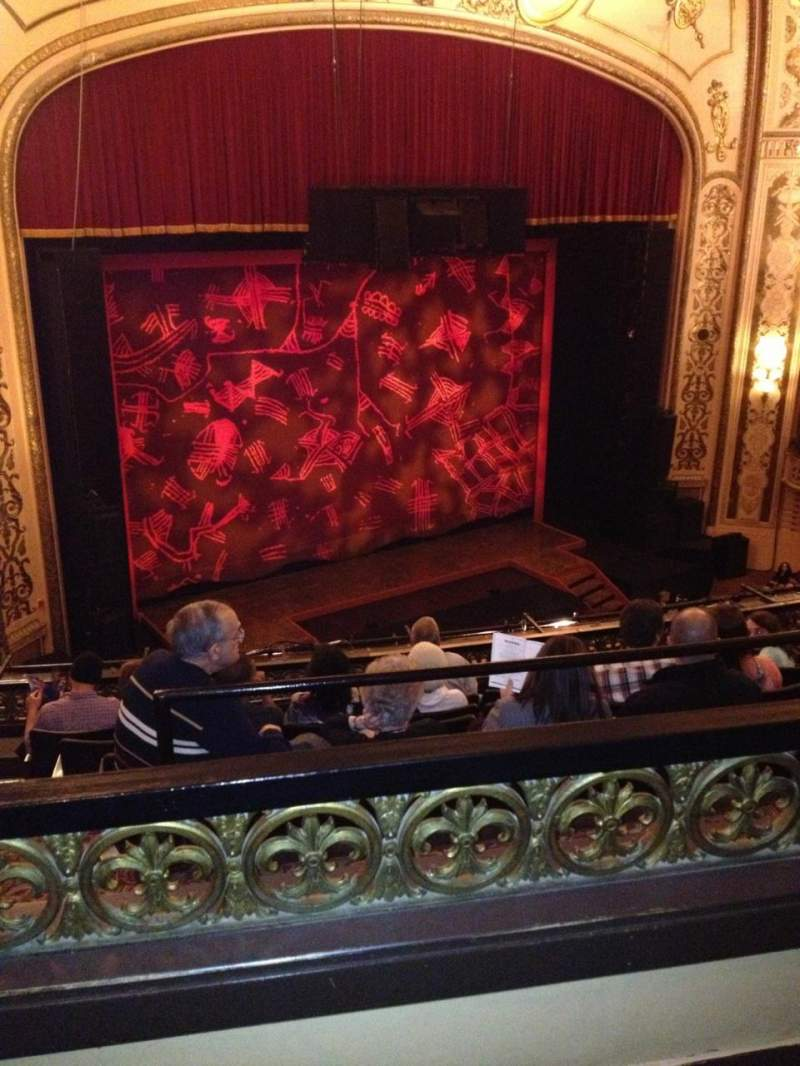 Seating view for Orpheum Theatre (San Francisco) Section Balcony LC Row B Seat 125