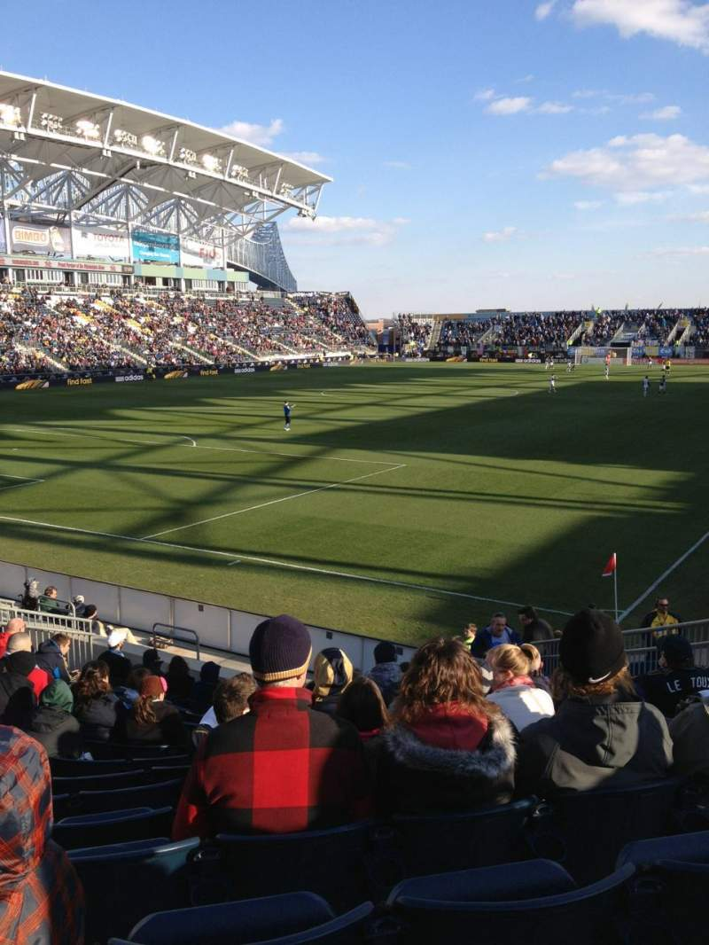 Seating view for Talen Energy Stadium Section 113 Row  M Seat 7