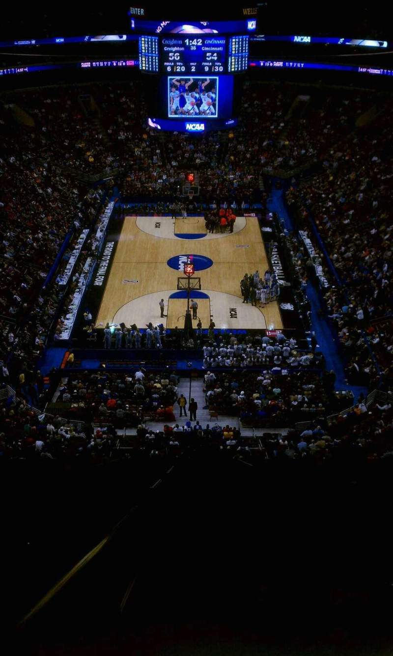 Seating view for Wells Fargo Center Section 219 Row 15 Seat 22