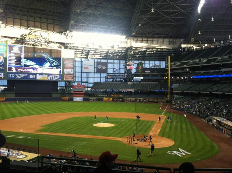 Seating view for Miller Park Section 221 Row 5 Seat 8
