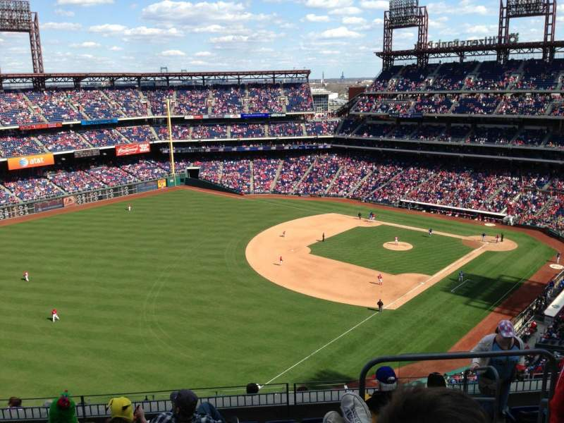 Seating view for Citizens Bank Park Section 433 Row 8 Seat 5