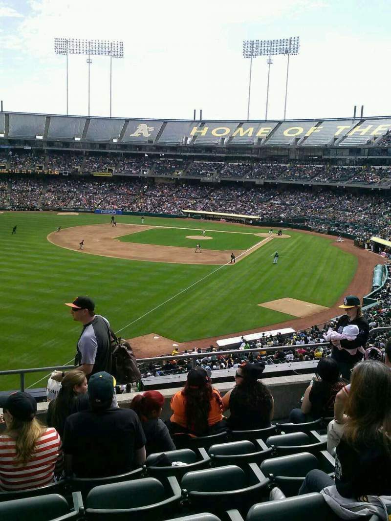 Seating view for Oakland Alameda Coliseum Section 230 Row 6 Seat 18