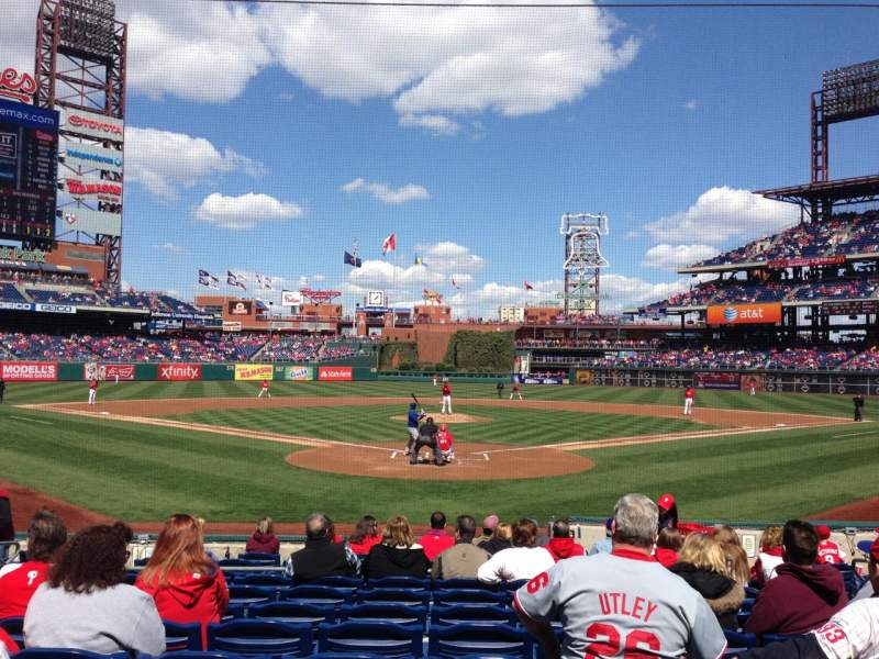 Seating view for Citizens Bank Park Section D Row 13