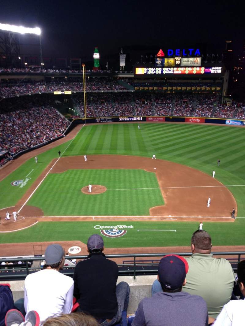 Seating view for Turner field Section 411 Row 4 Seat 108
