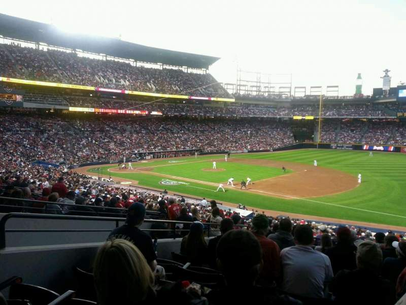 Seating view for Turner Field Section 219 Row 10 Seat 103