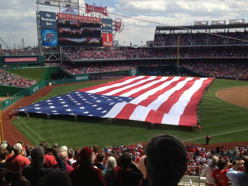 Seating view for Nationals Park Section 202 Row L Seat 1