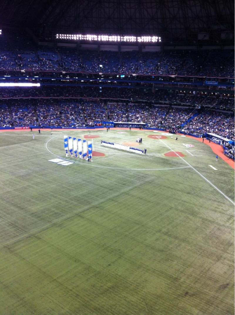 Seating view for Rogers Centre Section 542R Row 1 Seat 7