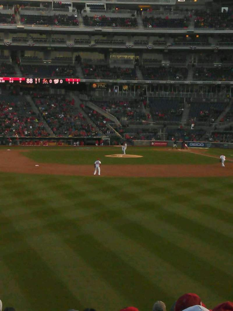 Seating view for Nationals Park Section 102 Row CC Seat 17
