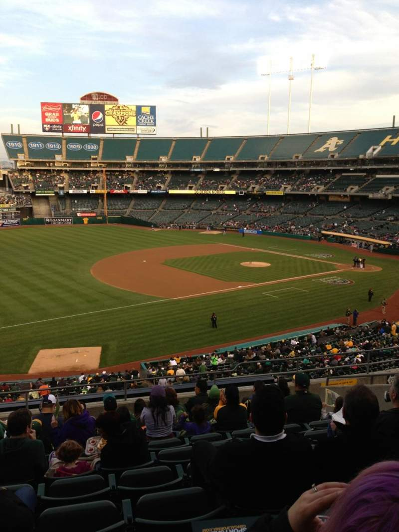 Seating view for Oakland Alameda Coliseum Section 226 Row 11 Seat 17