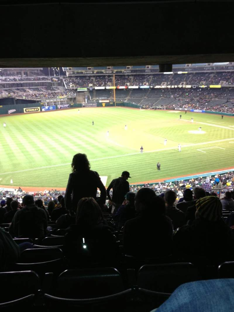 Seating view for Oakland Alameda Coliseum Section 226 Row 17 Seat 12