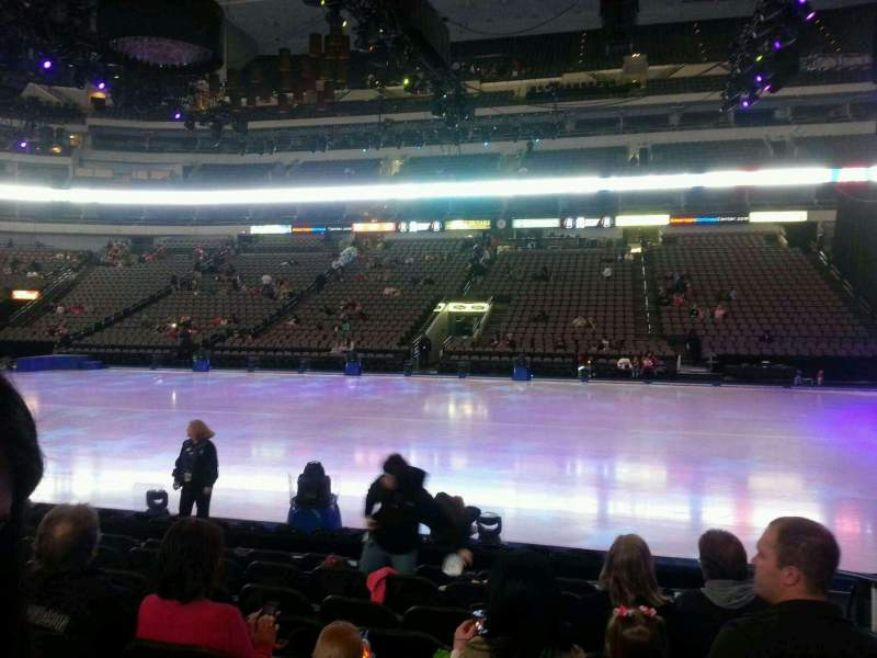 Seating view for American Airlines Center Section 106 Row h Seat 2