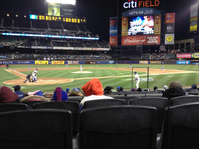 Seating view for Citi Field Section 13 Row 13 Seat 4
