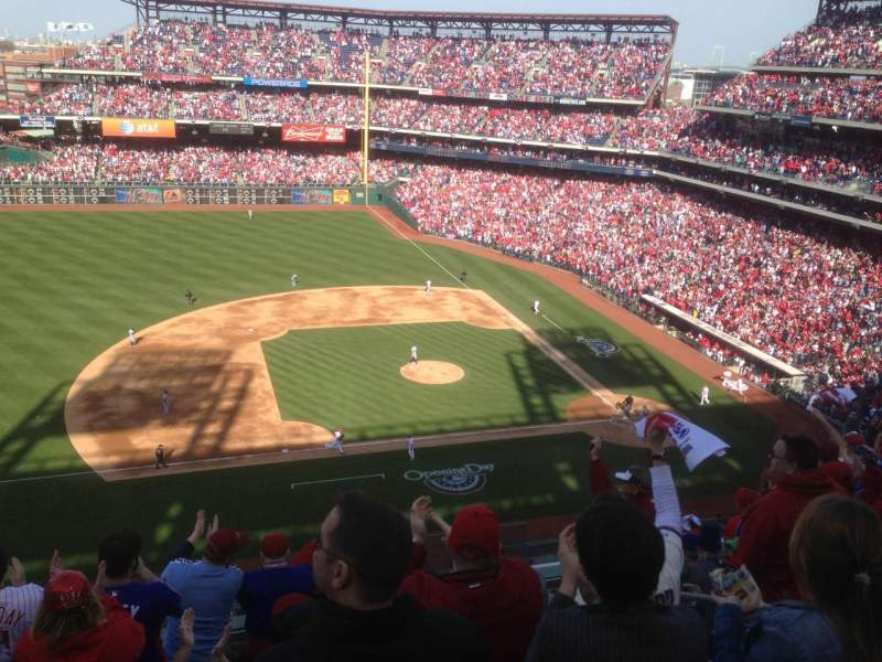 Seating view for Citizens Bank Park Section 327 Row 8 Seat 4