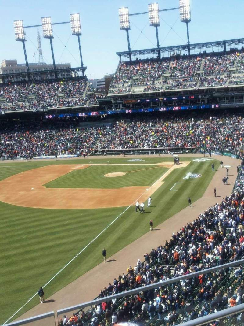 Seating view for Comerica Park Section 343 Row C Seat 19