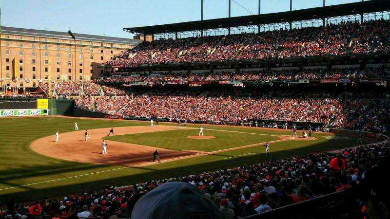 Seating view for Oriole Park at Camden Yards Section 61 Row 2