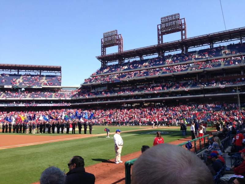 Seating view for Citizens Bank Park Section 134 Row 05 Seat 05