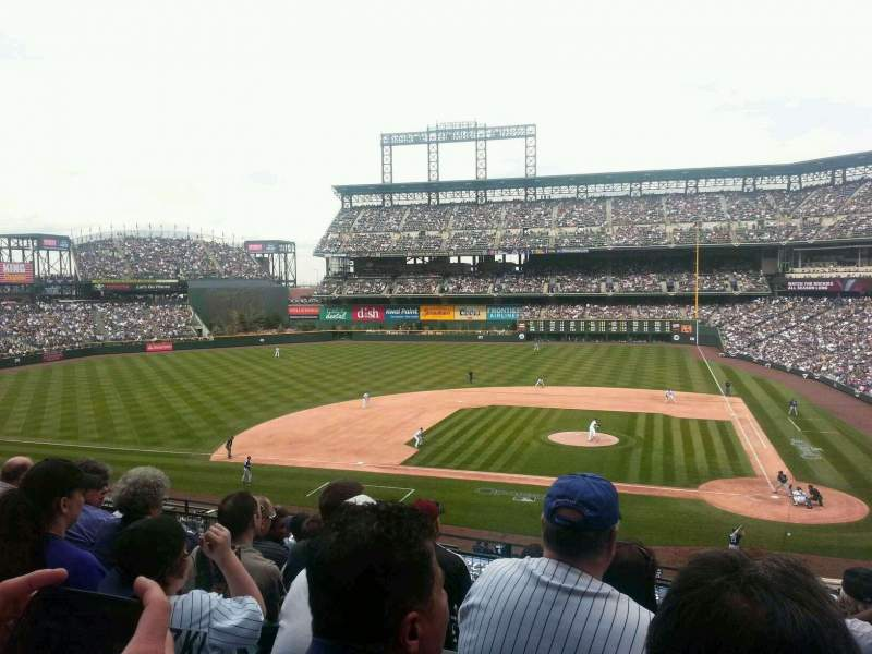 Seating view for Coors Field Section 236 Row 6 Seat 2