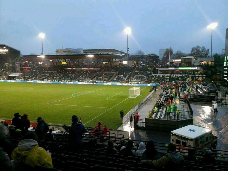 Seating view for Providence Park Section 123 Row Q Seat 6