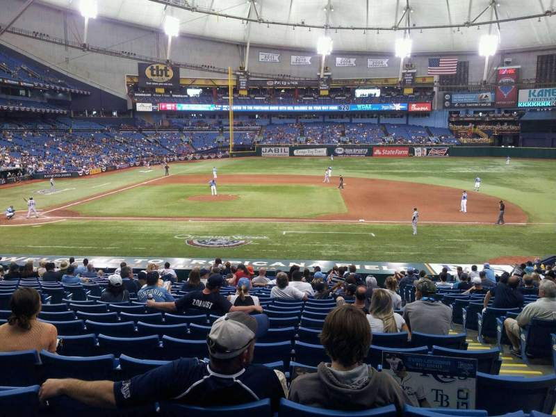 Seating view for Tropicana Field Section 116 Row GG Seat 8