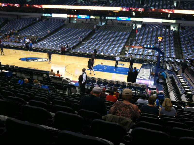 Seating view for American Airlines Center Section 117 Row M Seat 5