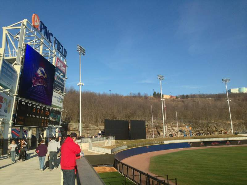 Seating view for PNC Field Section SRO