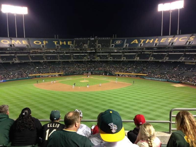 Seating view for Oakland Alameda Coliseum Section 241 Row 12 Seat 4