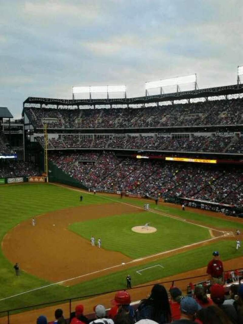 Seating view for Globe Life Park in Arlington Section 216 Row 9 Seat 6