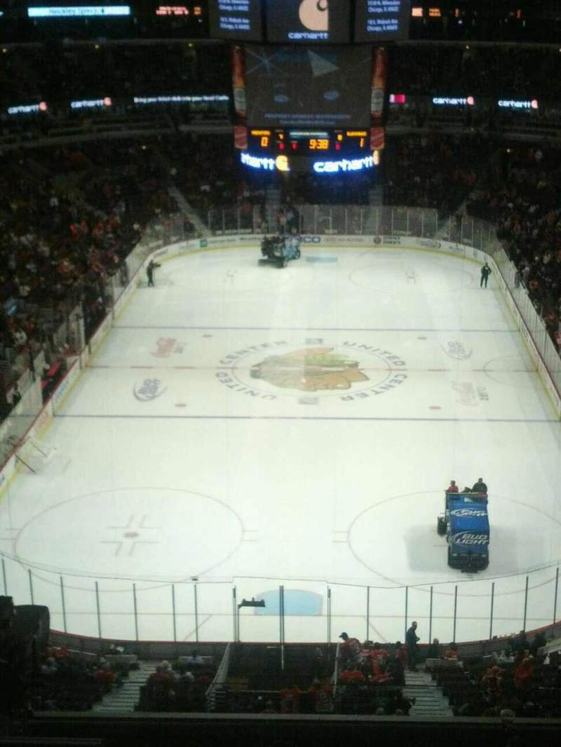 Seating view for United Center Section 326 Row 9 Seat 4