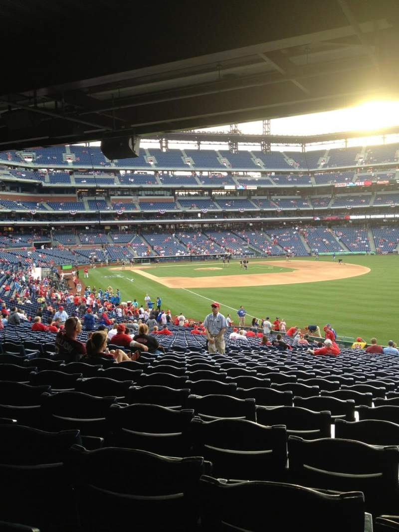 Seating view for Citizens Bank Park Section 108 Row 40 Seat 9