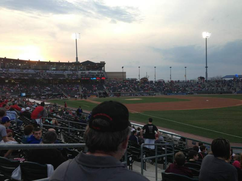 Seating view for Coca-Cola Park Section 102 Row R Seat 2
