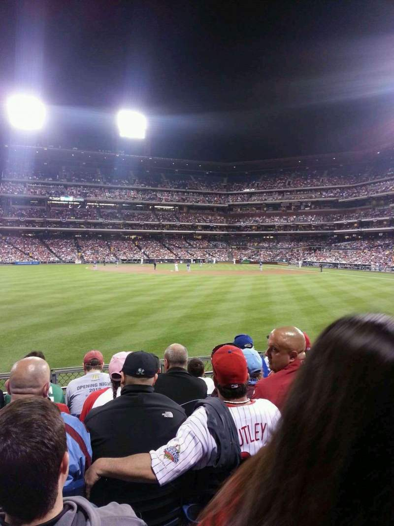 Seating view for Citizens Bank Park Section 145 Row 5 Seat 16