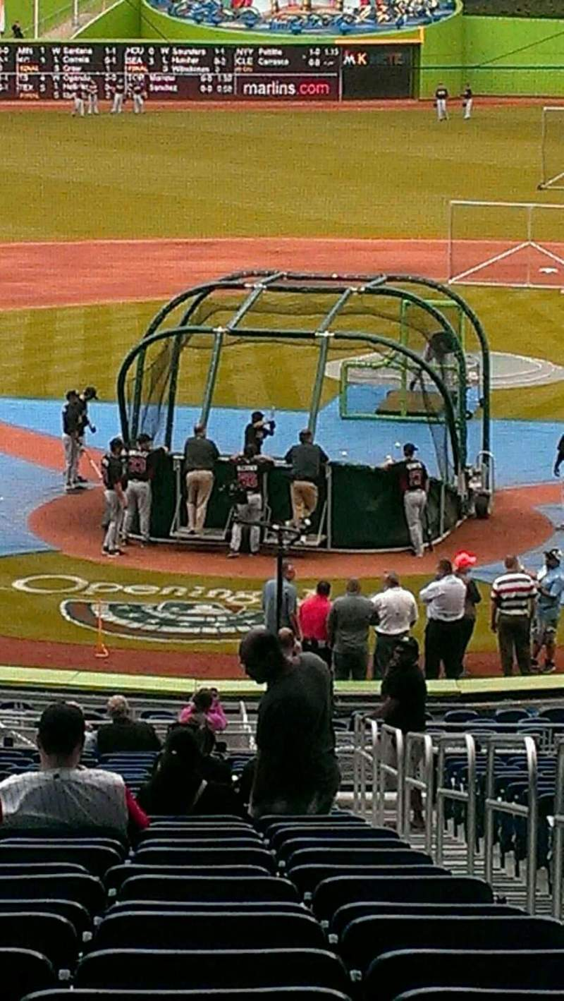 Seating view for Marlins Park Section 14 Row 25 Seat 2