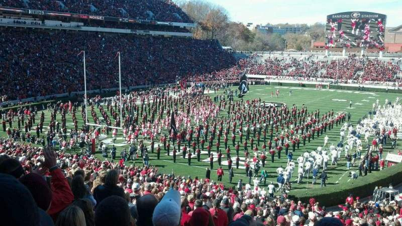 Seating view for Sanford Stadium Section 116 Row 48