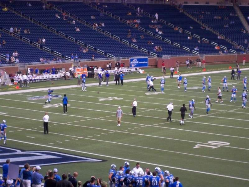 Seating view for Ford Field Section 141 Row 30 Seat 23