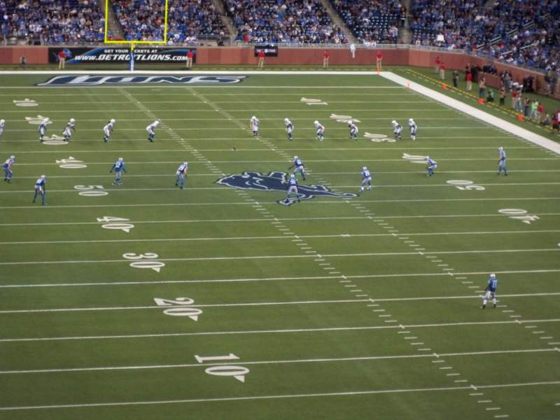 Seating view for Ford Field Section 342 Row 2 Seat 17