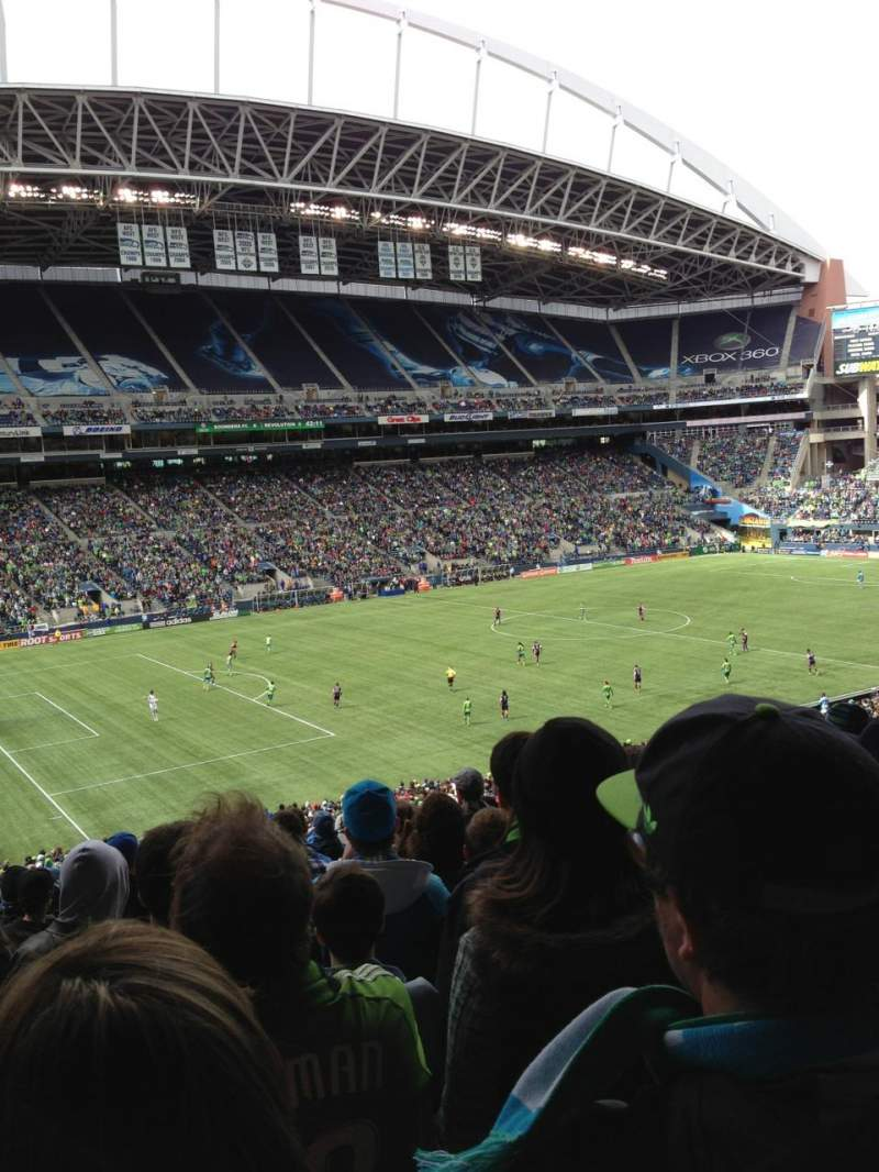 Seating view for CenturyLink Field Section 214 Row V Seat 12
