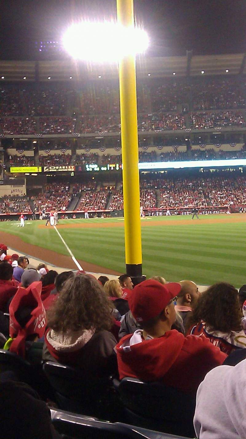 Seating view for Angel Stadium Section F134 Row f Seat 8