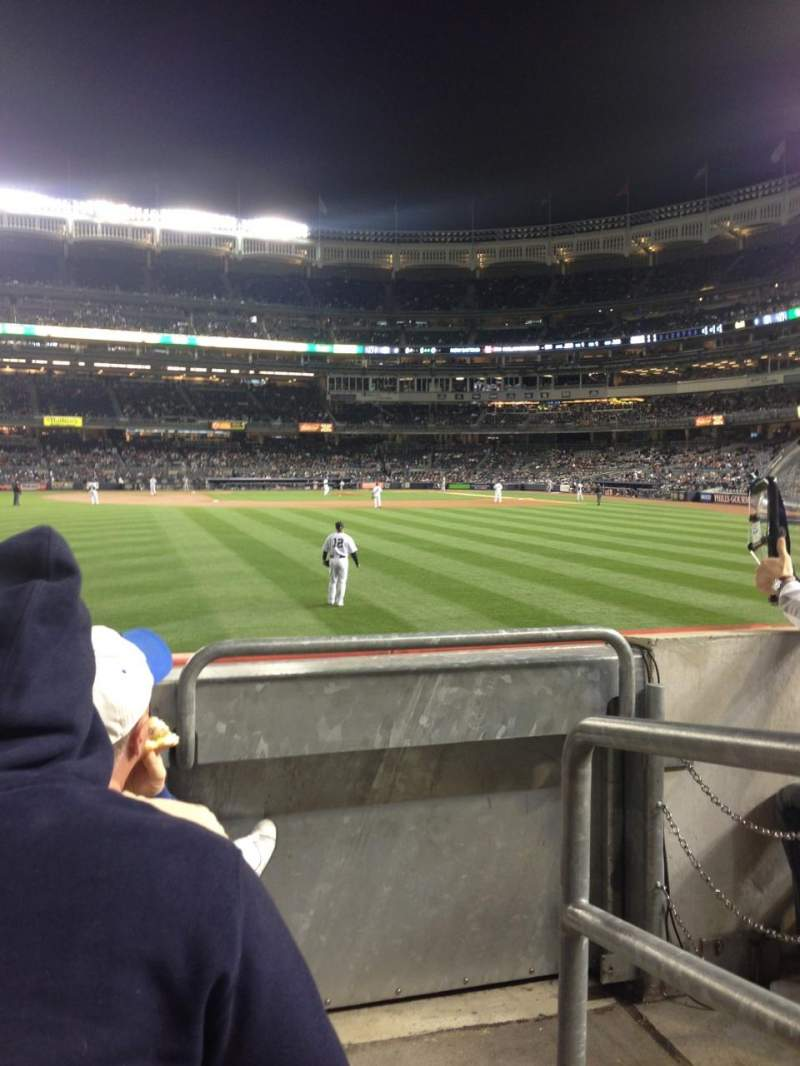 Seating view for Yankee Stadium Section 136 Row 12 Seat 1