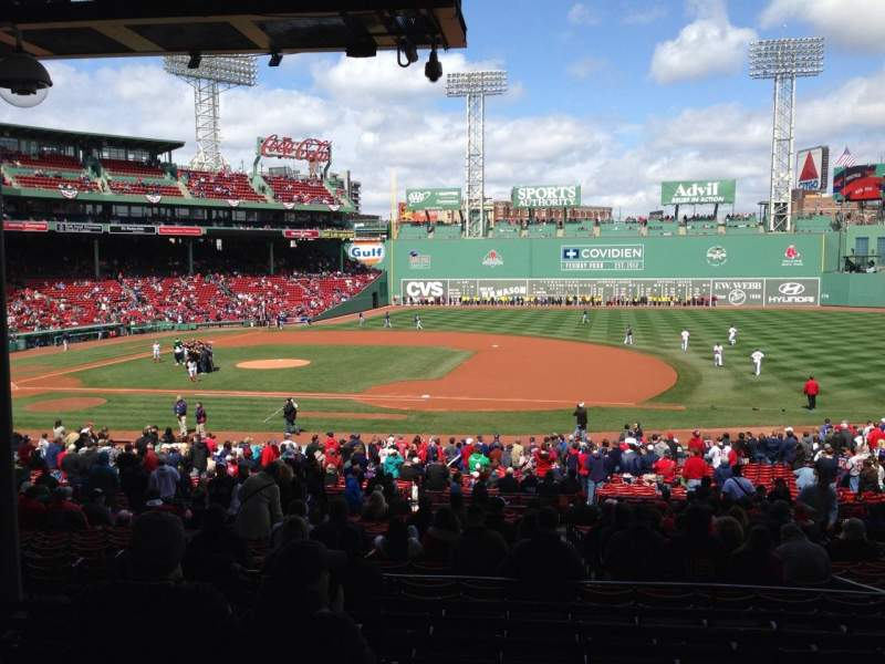 Seating view for Fenway Park Section Grandstand 14 Row 9 Seat 21