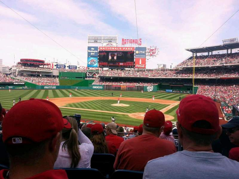 Seating view for Nationals Park Section HP120 Row P Seat 5