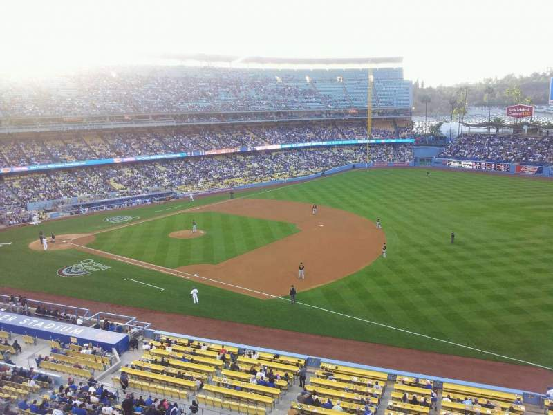Seating view for Dodger Stadium Section 32RS Row A Seat 18