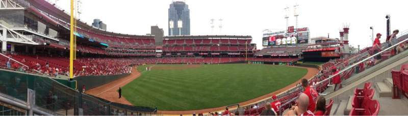 Seating view for Great American Ball Park Section 140 Row K Seat 9