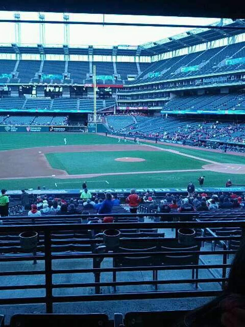 Seating view for Progressive Field Section 262 Row c Seat 15
