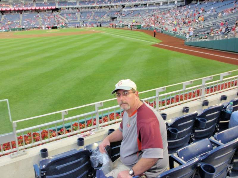 Seating view for Nationals Park Section 105 Row B Seat 1