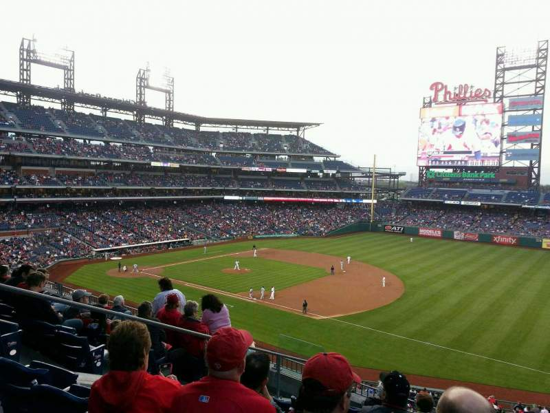 Seating view for Citizens Bank Park Section 211 Row 8 Seat 8