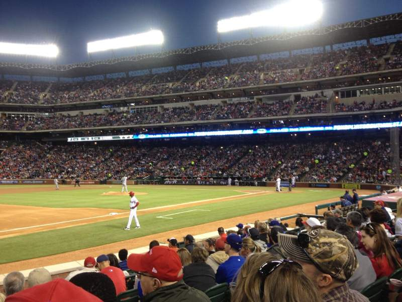 Seating view for Globe Life Park in Arlington Section 16 Row 7 Seat 13