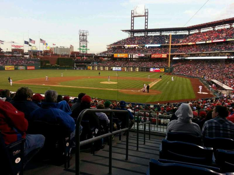 Seating view for Citizens Bank Park Section 126 Row 28 Seat 12