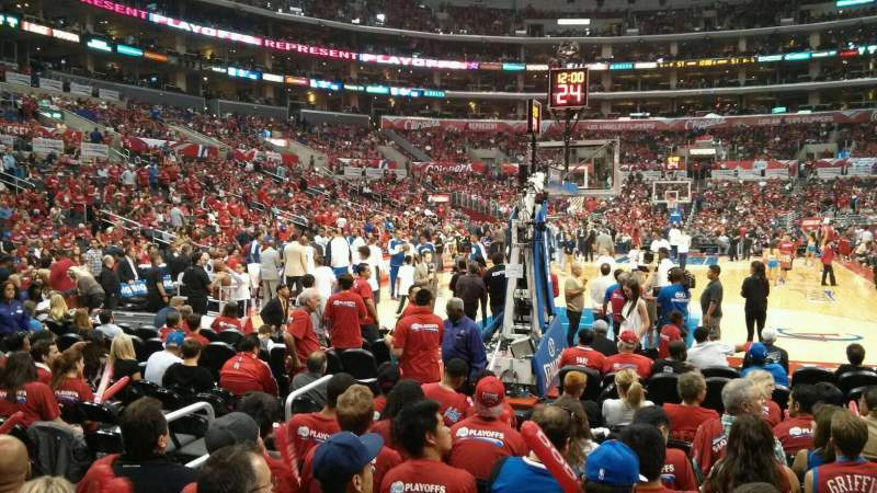 Seating view for Staples Center Section 115 Row L Seat 5